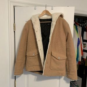 Tan Hooded Forever21 Jacket